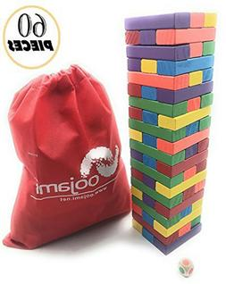 Wooden Toppling Tumbling Stacking Tower Board Games Building