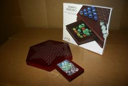 YMI Chinese Checkers Halma Marble Wooden Game Set w/ Drawers